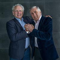 Nederland, Amsterdam, 22 februari 2017.<br /> Sjaak Swart en Henny Weering, oud-spelers van respectievelijk Ajax en Leeuwarden (SC Cambuur-Leeuwarden)<br /> <br /> Foto: Jean-Pierre Jans