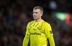 LIVERPOOL, ENGLAND - Sunday, January 5, 2020: Everton's goalkeeper Jordan Pickford looks dejected during the FA Cup 3rd Round match between Liverpool FC and Everton FC, the 235th Merseyside Derby, at Anfield. Liverpool won 1-0 (Pic by David Rawcliffe/Propaganda)