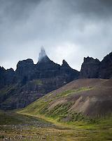 Hraundrangar mountains in Öxnadalur, North Iceland.