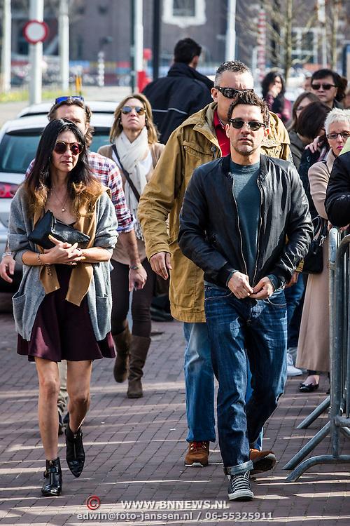 NLD/Amsterdam//20140330 - George Kotsiopoulos, host van Fashionplanet bezoekt Nederland,