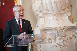 "03.06.2019, Präsidentschaftskanzlei, Wien, AUT, Angelobung der Übergangsregierung, im Bild Bundespräsident Alexander Van der Bellen // federal president of Austria Alexander Van der Bellen during inauguration of the provisional government after ""Ibiza Affair"" at Federal Presidents Office in Vienna, Austria on 2019/06/19, EXPA Pictures © 2019, PhotoCredit: EXPA/ Michael Gruber"