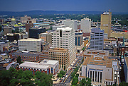 Harrisburg, PA, Market Street, Downtown Aerial Photograph, Pennsylvania