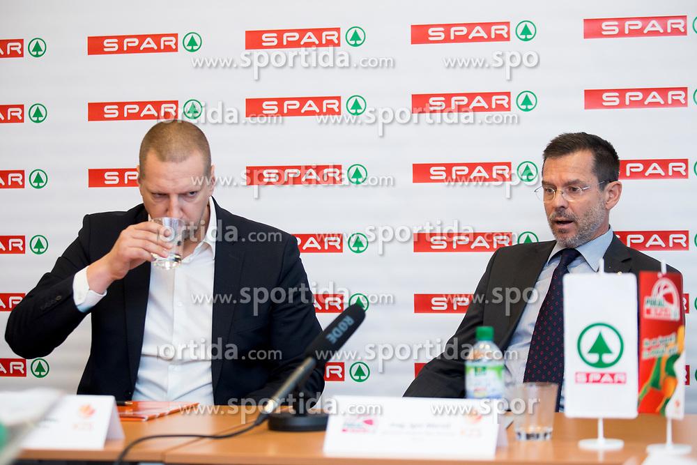 Matej Erjavc, president of KZS and Igor Mervic of Spar Slovenia at press conference before Finals of Spar Cup 2018, on January 31, 2018 in Ljubljana, Slovenia. Photo by Urban Urbanc / Sportida