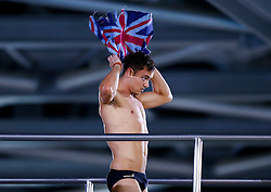 Tom Daley of Great Britain dries himself as he practices - Photo mandatory by-line: Rogan Thomson/JMP - 07966 386802 - 21/08/2014 - SPORT - DIVING - Berlin, Germany - SSE im Europa-Sportpark - 32nd LEN European Swimming Championships 2014 - Day 9.