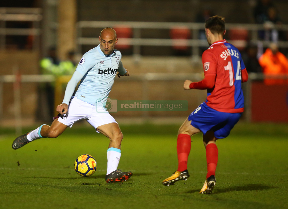 March 21, 2018 - Dagenham, England, United Kingdom - West Ham United's Pablo Zabaleta.during Friendly match between Dagenham and Redbridge against West Ham United at Chigwell Construction  stadium, Dagenham England on 21 March 2018. (Credit Image: © Kieran Galvin/NurPhoto via ZUMA Press)