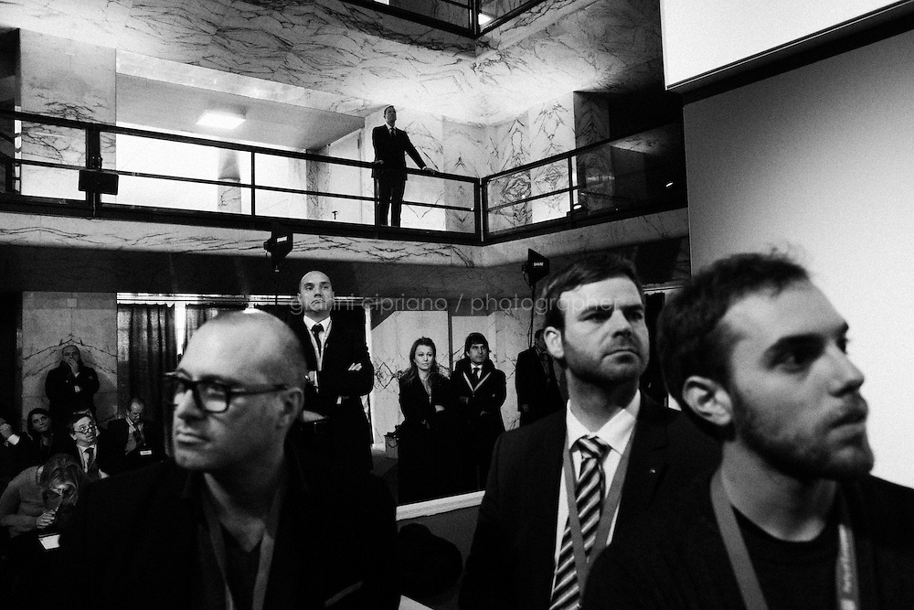 ROME, ITALY - 1 March 2014:  The Party of European Socialists (PES) elected Martin Schulz as  Candidate for President of the European Commission, during a congress in Rome, Italy, on March 1st 2013.