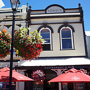 Diners on outside cafe seats in Trafalgar Street, Nelson, New Zealand, 1st February 2011, Photo Tim Clayton