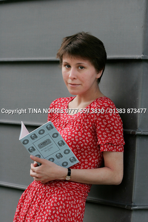 Alice Howlett, a pupil at St. George's School, Edinburgh, whose book of poetry is being published by Alexander McCall-Smith's imprint - 27 Jun 2007. © photograph by Tina Norris + 44 (0) 777 559 3830