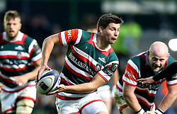 Ben Youngs of Leicester Tigers runs with the ball - Mandatory by-line: Robbie Stephenson/JMP - 23/10/2016 - RUGBY - Welford Road Stadium - Leicester, England - Leicester Tigers v Racing 92 - European Champions Cup