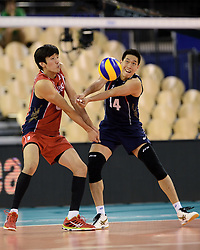 31-05-2014 NED: WLV Nederland - Zuid Korea, Eindhoven<br /> Seung-Suk Kwak, Kang-Joo Lee