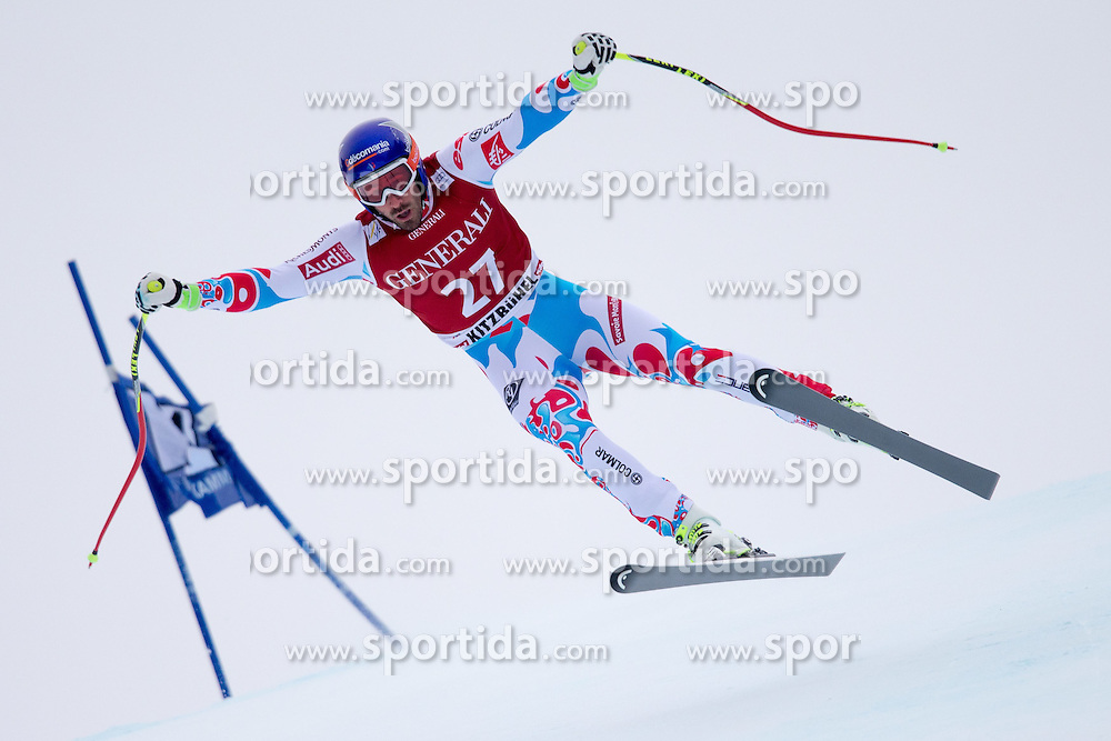 23.01.2015, Streif, Kitzbuehel, AUT, FIS Ski Weltcup, Supercombi Super G, Herren, im Bild Adrien Theaux (FRA) // Adrien Theaux of France in action during the men's Super Combined Super-G of Kitzbuehel FIS Ski Alpine World Cup at the Streif Course in Kitzbuehel, Austria on 2015/01/23. EXPA Pictures © 2015, PhotoCredit: EXPA/ Johann Groder