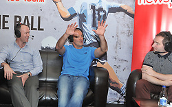 Pictured at the Newstalk Off the Ball Roadshow in association with Liberty Insurance live from the Knockranny House Hotel Westport, on thursday last with guests  David Brady, Liam McHale and show presenter Ger Kilroy.<br /> Pic Conor McKeown