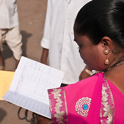 The VHW has records of every person in her village.  These records are reviewed by the CRHP staff when she visits the CRHP compound for training.