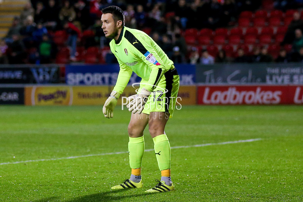 Rotherham United goalkeeper Lewis Price (12)  during the EFL Sky Bet Championship match between Rotherham United and Queens Park Rangers at the New York Stadium, Rotherham, England on 10 December 2016. Photo by Simon Davies.