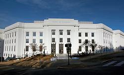 07 December 2014. Montgomery, Alabama. <br /> The State of Alabama building near the State Capitol.<br /> Photo; Charlie Varley/varleypix.com