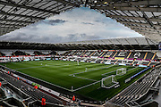 *** during the Capital One Cup match between Swansea City and York City at the Liberty Stadium, Swansea, Wales on 25 August 2015. Photo by Simon Davies.