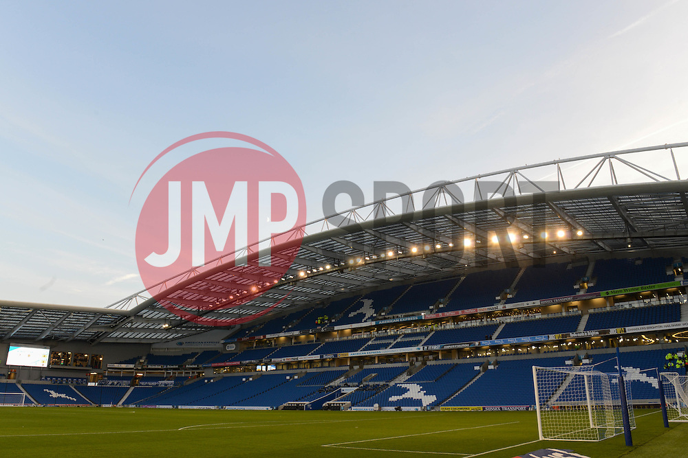 A general view of American Express Community Stadium - Mandatory byline: Dougie Allward/JMP - 07966 386802 - 20/10/2015 - FOOTBALL - American Express Community Stadium - Brighton, England - Brighton v Bristol City - Sky Bet Championship