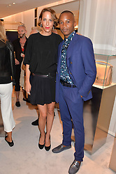 VANESSA ARELLE and ERIC UNDERWOOD at a dinner hosted by Tod's to celebrate the refurbishment of their store 2-5 Old Bond Street, London on 15th September 2016.