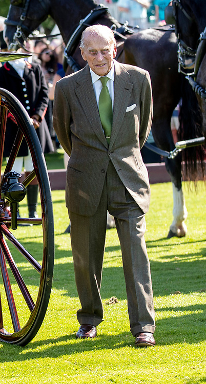 The Duke of Edinburgh during the Out-Sourcing Royal Windsor Cup finals at the Guards Polo Club, Windsor Great Park, Egham, Surrey.