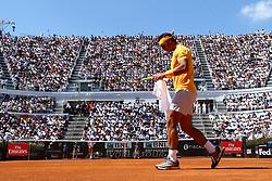 May 19, 2018 - Rome, Italy - Rafael Nadal (SPA) at Foro Italico in Rome, Italy during Tennis ATP Internazionali d'Italia BNL semi-final on May 19, 2018. (Credit Image: © Matteo Ciambelli/NurPhoto via ZUMA Press)