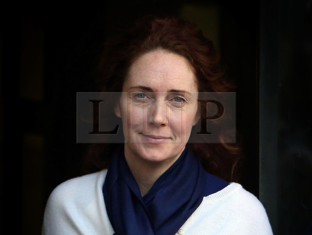&copy; Licenced to London News Pictures. 20/02/2014. London. UK.  <br /> Former News of the World editor Rebekah Brooks is pictured leaving the Central Criminal Court during her week of giving evidence at the phone-hacking trial at the Old Bailey in London, February 20th 2014.<br /> Photo Credit: Susannah Ireland