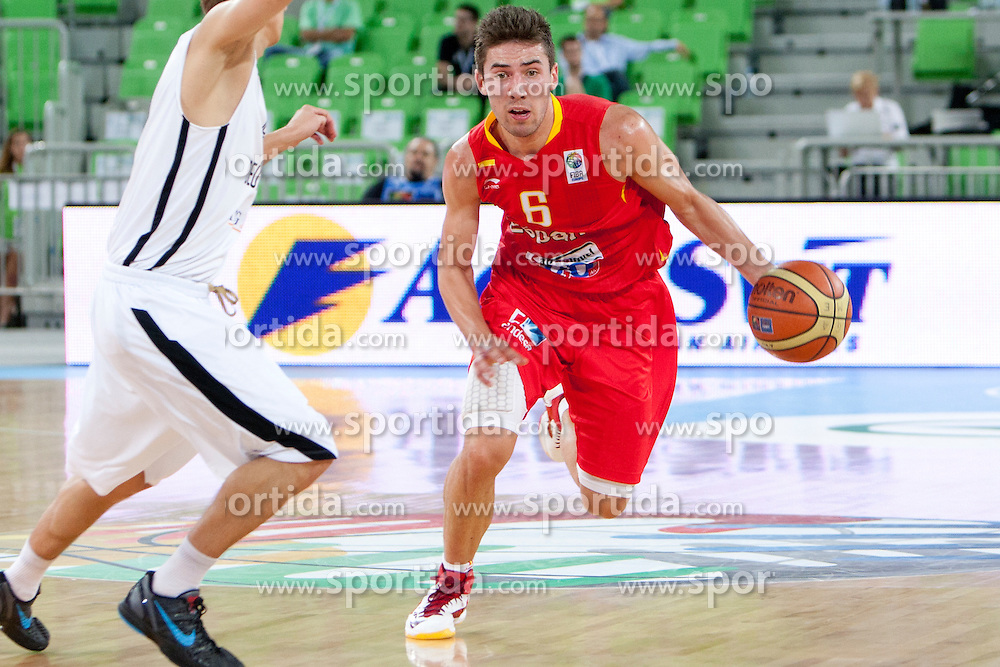 Jorge Sanz of Spain during basketball match between National teams of Spain and Germany in Quarterfinal Match of U20 Men European Championship Slovenia 2012, on July 20, 2012 in SRC Stozice, Ljubljana, Slovenia. (Photo by Urban Urbanc / Sportida.com)