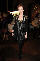 Actress OLIVIA GRANT at the Launch of Peroni Nastro Azzurro Accademia del Film Wrap Party Tour held atThe Boiler House, 152 Brick Lane, London E1 on 25th August 2010.