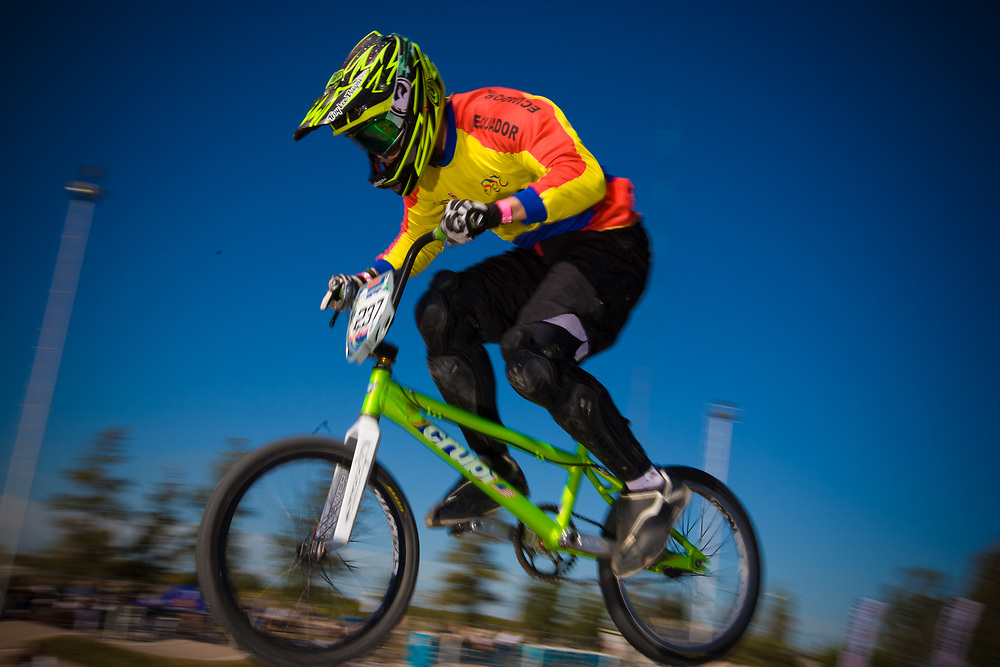 # 237 (URGILEZ FARFAN Bryan Martin) ECU at the UCI BMX Supercross World Cup in Santiago del Estero, Argintina.