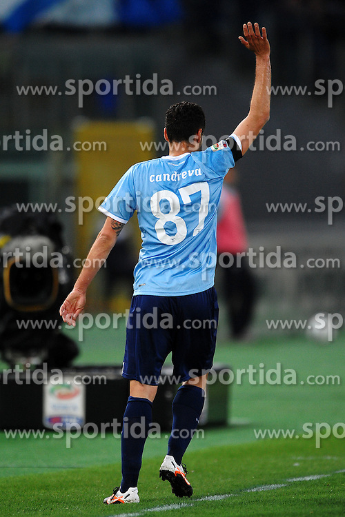 07.04.2012, Olympiastadion, Rom, ITA, Serie A, Lazio Rom vs SSC Neapel, 31. Spieltag, im Bild L'autore del gol Antonio Candreva Lazio // during the football match of Italian 'Serie A' league, 31th round, between Lazio Rom and SSC Neapel at Olympic Stadium, Rome, Italy on 2012/04/07. EXPA Pictures © 2012, PhotoCredit: EXPA/ Insidefoto/ Andrea Staccioli..***** ATTENTION - for AUT, SLO, CRO, SRB, SUI and SWE only *****