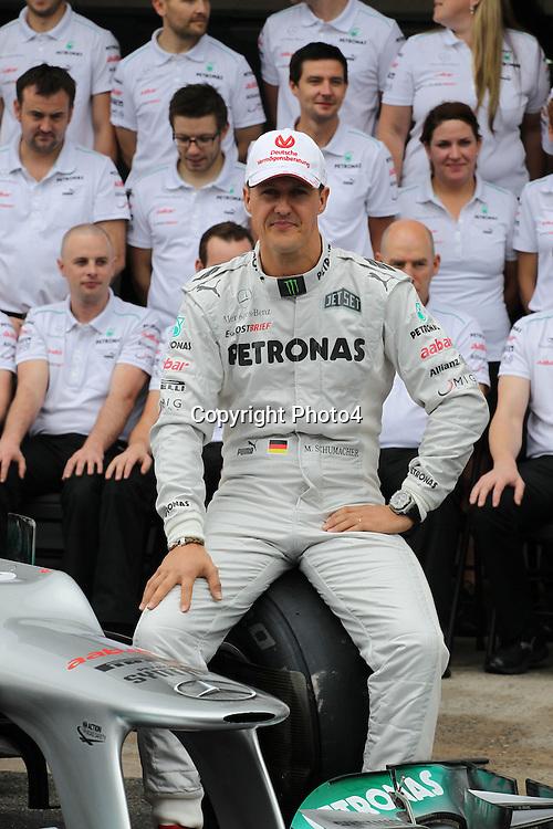 &copy; Photo4 / LaPresse<br /> 25/11/2012 Sao Paulo, Brazil<br /> Sport <br /> Brazilian Grand Prix, Sao Paulo 22-25 November 2012<br /> In the pic: Mercedes Team photograph, Michael Schumacher (GER) Mercedes AMG F1 W03