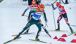 22.02.2019, Seefeld, AUT, FIS Weltmeisterschaften Ski Nordisch, Seefeld 2019, Nordische Kombination, Langlauf, im Bild v.l. Franz-Josef Rehrl (AUT), Eric Frenzel (GER) // f.l. Franz-Josef Rehrl of Austria and Eric Frenzel of Germany during the Cross Country Competition of Nordic Combined for the FIS Nordic Ski World Championships 2019. Seefeld, Austria on 2019/02/22. EXPA Pictures © 2019, PhotoCredit: EXPA/ Stefan Adelsberger
