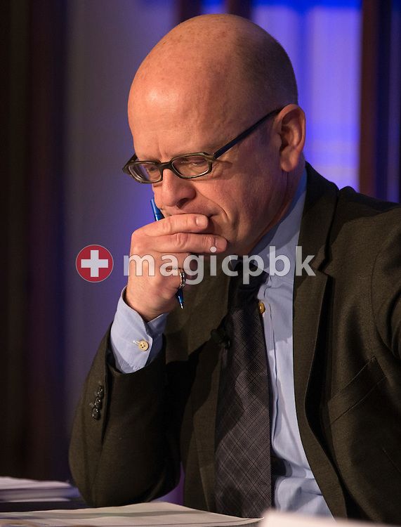 Dieter A. Enkelmann, Chief Financial Officer (CFO), looks on during a press conference on the fourth quarter and full-year results 2014 of Julius Baer Group Ltd. held at the Hotel Widder in Zuerich, Switzerland, on Monday, 2 February 2015. (Photo by Patrick B. Kraemer / MAGICPBK)