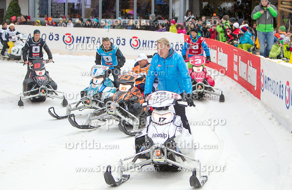 07.12.2014, Saalbach Hinterglemm, AUT, Snow Mobile, im Bild Mika Häkkinen // during the Snow Mobile Event at Saalbach Hinterglemm, Austria on 2014/12/07. EXPA Pictures © 2014, PhotoCredit: EXPA/ JFK
