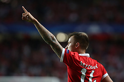 September 12, 2017 - Lisbon, Portugal - Benfica's Suisse forward Haris Seferovic celebrates after scoring a goal during UEFA Champions League football match SL Benfica vs CSKA Moscow at the Luz stadium in Lisbon, Portugal on September 12, 2017. Photo: Pedro Fiuza (Credit Image: © Pedro Fiuza via ZUMA Wire)
