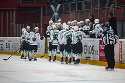 HK SZ Olimpija celebrating goal during Alps League Ice Hockey match between HDD SIJ Jesenice and HK SZ Olimpija on December 20, 2019 in Ice Arena Podmezakla, Jesenice, Slovenia. Photo by Peter Podobnik / Sportida