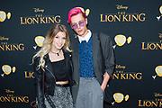 Nederlandse galapremiere van de Disney-klassieker Lion King in Pathe Tuschinski, Amsterdam.<br /> <br /> Op de foto:  OnneDi - Dionne Slagter