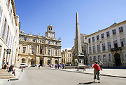 Arles, Provence, France Obelisk at Place De La Republique