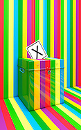 Coalition Coloured Rainbow Ballot Box