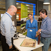 04.04.2017         <br /> Digitisation and Archives professionals from the Gluksman Library University of Limerick presented a talk on Attics to Archives at the Bank of Ireland Workbench for the Limerick Lifelong Learning Festival.<br /> Pictured at the event were, Dr. Vincent O'Connell, UL, Evelyn McAuley, Glucksman Library  and  Randel Hodkinson who brought a collection of designs from J Hodkinson &amp; Sons Ecclesiastical Decorators dating back as far as 1852. Picture: Alan Place