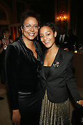 l to r: Harriett Cole and Lorin Hankin at The Fifth Annual Grace in Winter Gala honoring Susan Taylor, Kephra Burns, Noel Hankin and Moet Hennessey USA and benfiting The Evidence Dance Company held at The Plaza Hotel on February 3, 2009 in New York City.