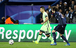 Sergio Aguero of Manchester City passes the ball - Mandatory by-line: Robbie Stephenson/JMP - 06/04/2016 - FOOTBALL - Parc des Princes - Paris,  - Paris Saint-Germain v Manchester City - UEFA Champions League Quarter Finals First Leg
