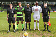 Team captains during the Trevor Horsley Memorial Match held at the New Lawn, Forest Green, United Kingdom on 19 May 2019.