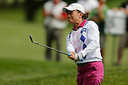 CATRIONA MATTHEW takes a shot on the 12th hole at the LPGA Championship at Monroe Golf Club in Pittsford, New York on August 15, 2014.