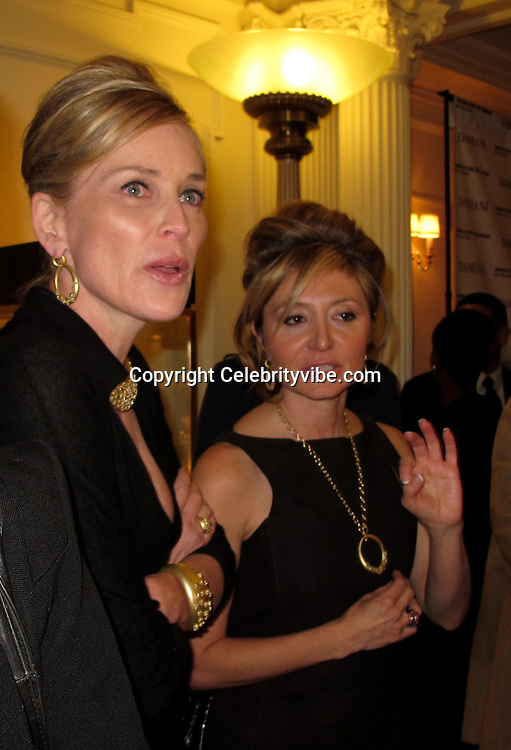 "Sharon Stone and Silvia Damiani..Sharon Stone for Damiani Jewlery ""Maji Collection"" Launch Event..Benefiting the Clean Water Project..Beverly Wilshire Hotel..Beverly Hills, CA, USA..Tuesday, November 30, 2010..Photo By iSnaper.com/ CelebrityVibe.com.To license this image please call (212) 410 5354; or Email: CelebrityVibe@gmail.com ; .website: www.CelebrityVibe.com."
