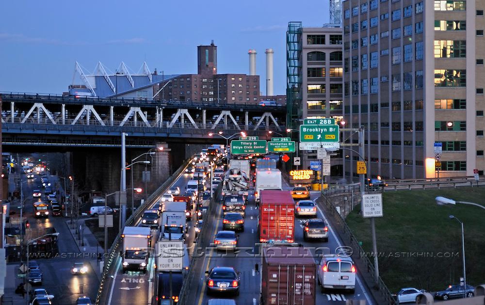 Traffic congestion New York City, USA.