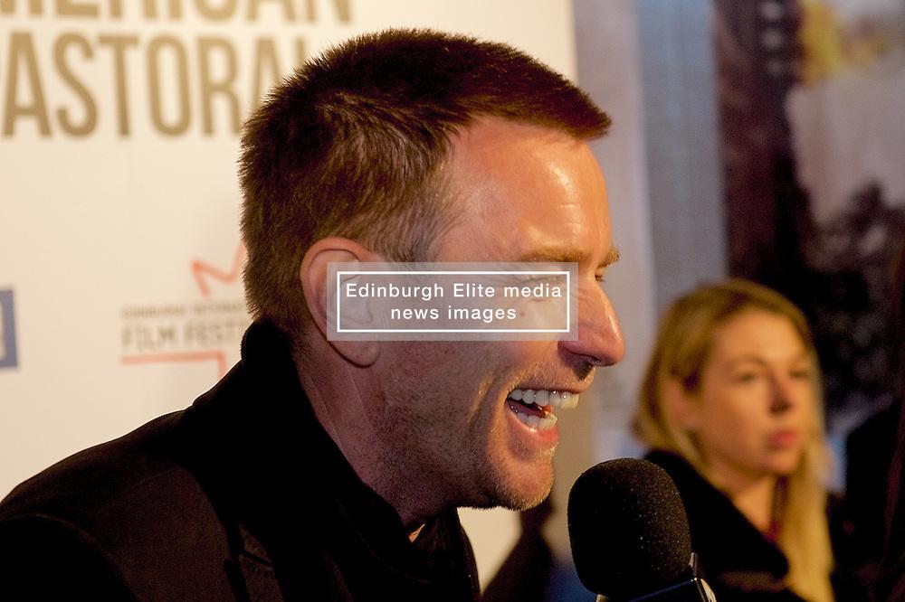 Ewan McGregor, director and lead actor of American Pastoral, on the red carpet for the film's Edinburgh International Film Festival gala screening. Wednesday 2nd November 2016 (c) Brian Anderson | Edinburgh Elite media