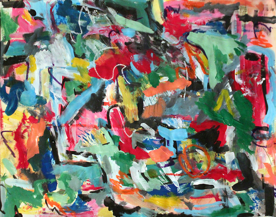 "Untitled – 24""x18"", Acrylic on paper, 2013"