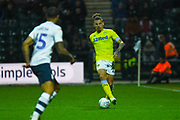 Kalvin Phillips of Leeds United (23) in action during the EFL Sky Bet Championship match between Preston North End and Leeds United at Deepdale, Preston, England on 9 April 2019.