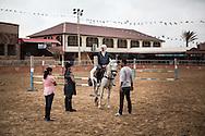 An horseback riding lesson at the Al Fares club