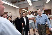 "Yuan-Cheng ""Bert"" Fung, recipient of the 2007 Fritz J. and Dolores H. Russ Prize having breakfast with students in Stocker....David Tees/Doug Goetz lab, ""Leukocyte Adhesion in Capillary Sized Microvessels""..Left to right:..David Tees,Doug Goetz, Young Eun Choi, Wei Huang(UCSD Associate project scientist),  Prithu Sundd, and Yuan-Cheng ""Bert"" Fung.....Russ Prize winner to speak on biomechanics..Yuan-Cheng ""Bert"" Fung, recipient of the 2007 Fritz J. and Dolores H. Russ Prize, will give a public lecture titled, ?Biomechanics: The Road to Understanding Living Systems,? from 2:10 to 3 p.m. Thursday, Sept. 27, in Ohio University's Baker University Center Theatre.  ..Widely considered the father of modern biomechanics, Fung's diverse research endeavors have formed the basis for the entire field of automotive safety design. They also contributed to the development of artificial skin, improved the effectiveness and longevity of prosthetic devices and enabled the military to develop safer non-lethal weapons and personal body armor. Fung is currently a professor emeritus of bioengineering at the University of California, San Diego, where he founded the bioengineering program...In addition to his public lecture, Fung will also tour Ohio University biomedical engineering labs and meet with Ohio University faculty, leaders, and the Russ College Engineering Ambassadors. ..The late Ohio University graduate Fritz Russ and his wife, Dolores, created the Russ Prize in 1999. The $500,000 award, one of the top three engineering prizes in the world, recognizes engineering achievement that significantly improves the human condition. All Russ Prize winners are invited to give a lecture at Ohio University...Fung's lecture is free and open to the public. A reception will follow outside the theater."